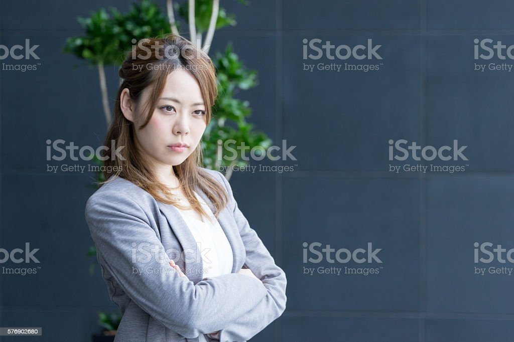 Woman overlooking the distant (business image) stock photo