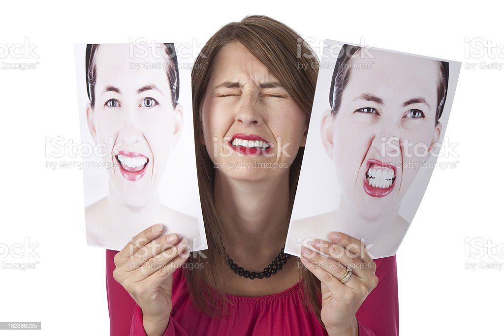 Woman Overwhelmed By Her Emotions royalty-free stock photo