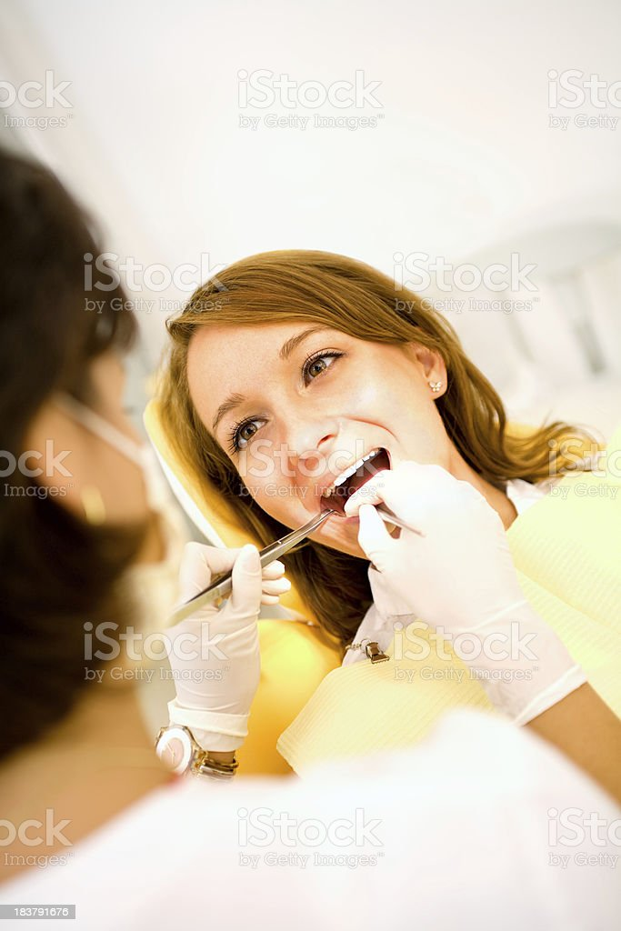 Woman Pacient at Dentist Office royalty-free stock photo