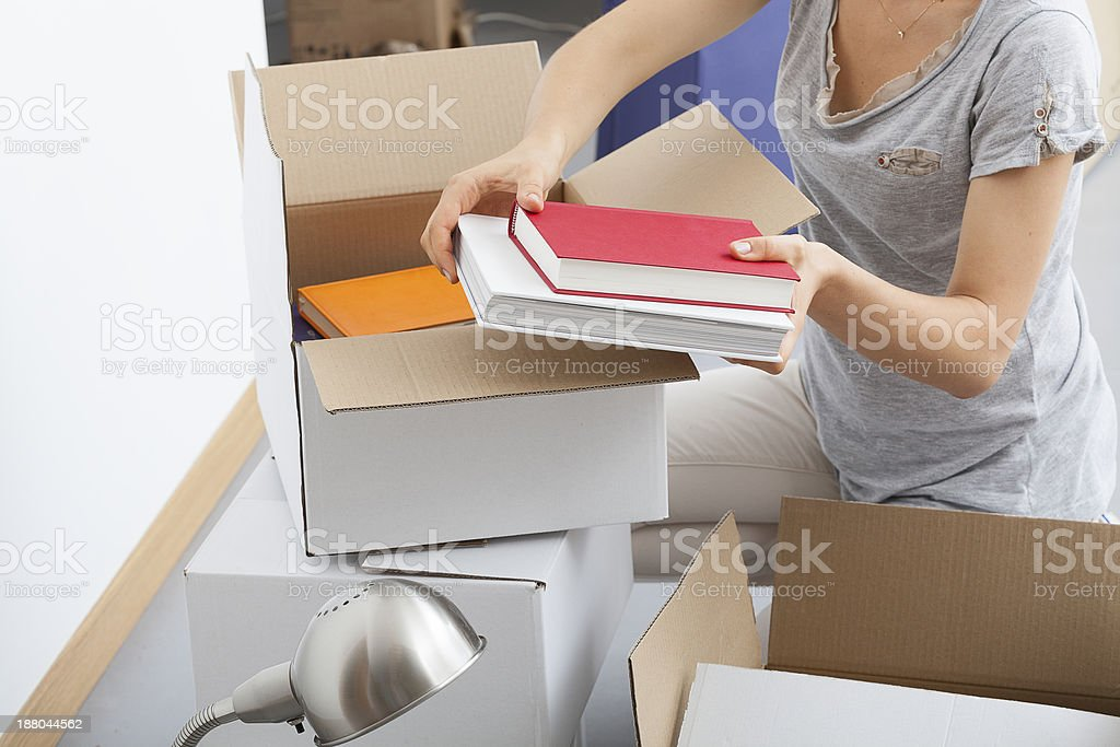 Woman packing herself royalty-free stock photo