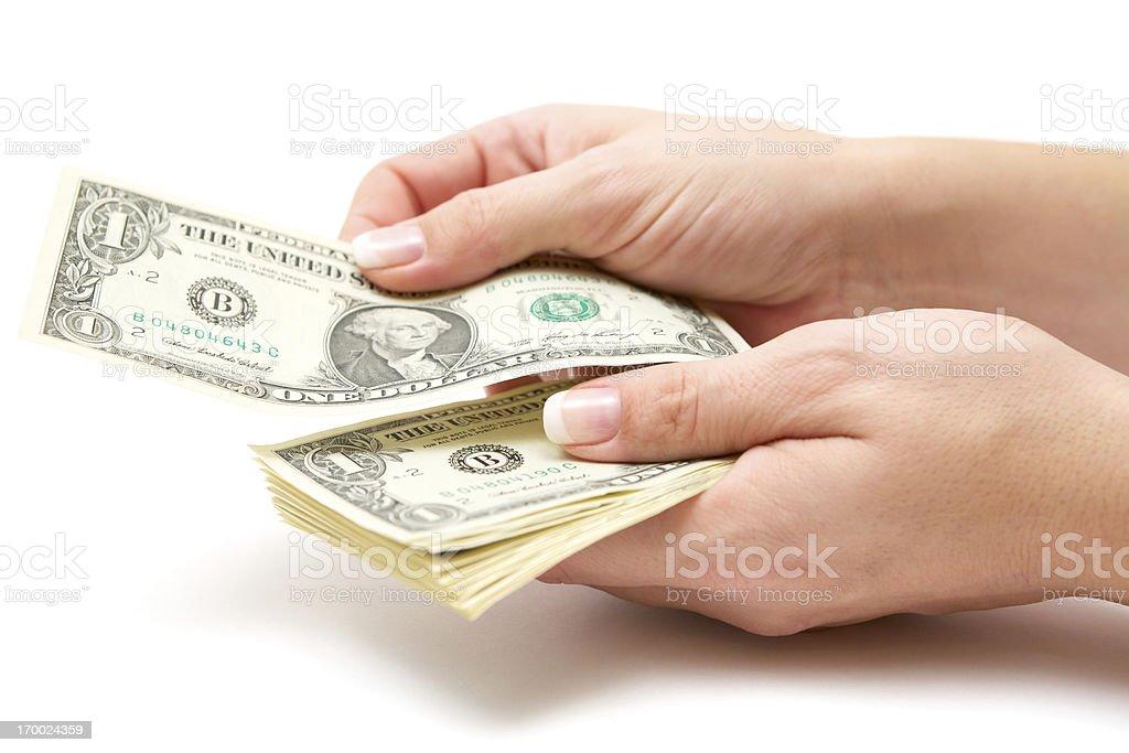 Woman Paying stock photo