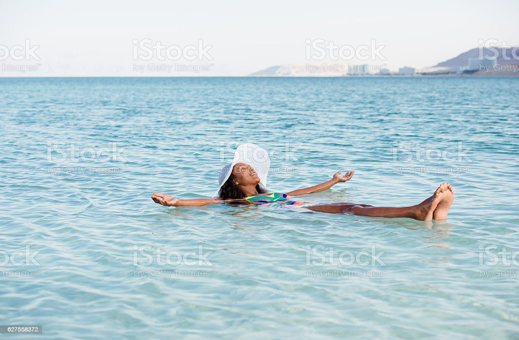 Woman perfect vacation. stock photo