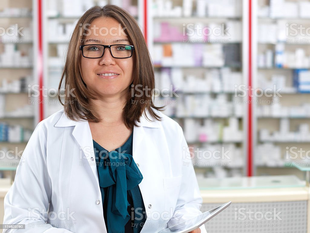 Woman Pharmacist royalty-free stock photo