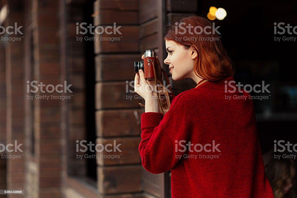 woman Photographer stock photo