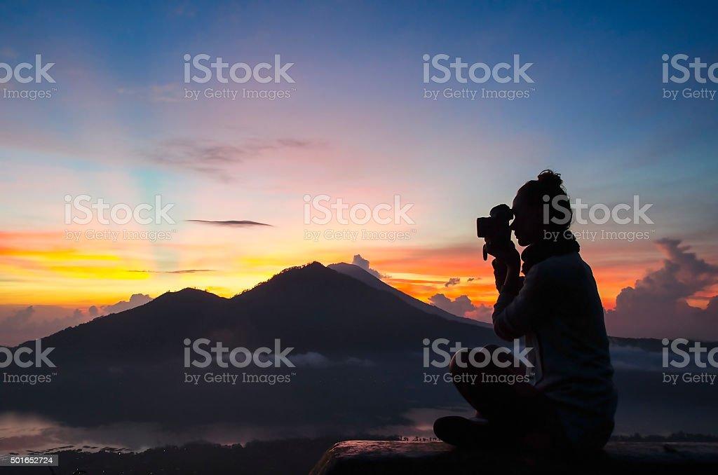 woman photographer - Stock image stock photo