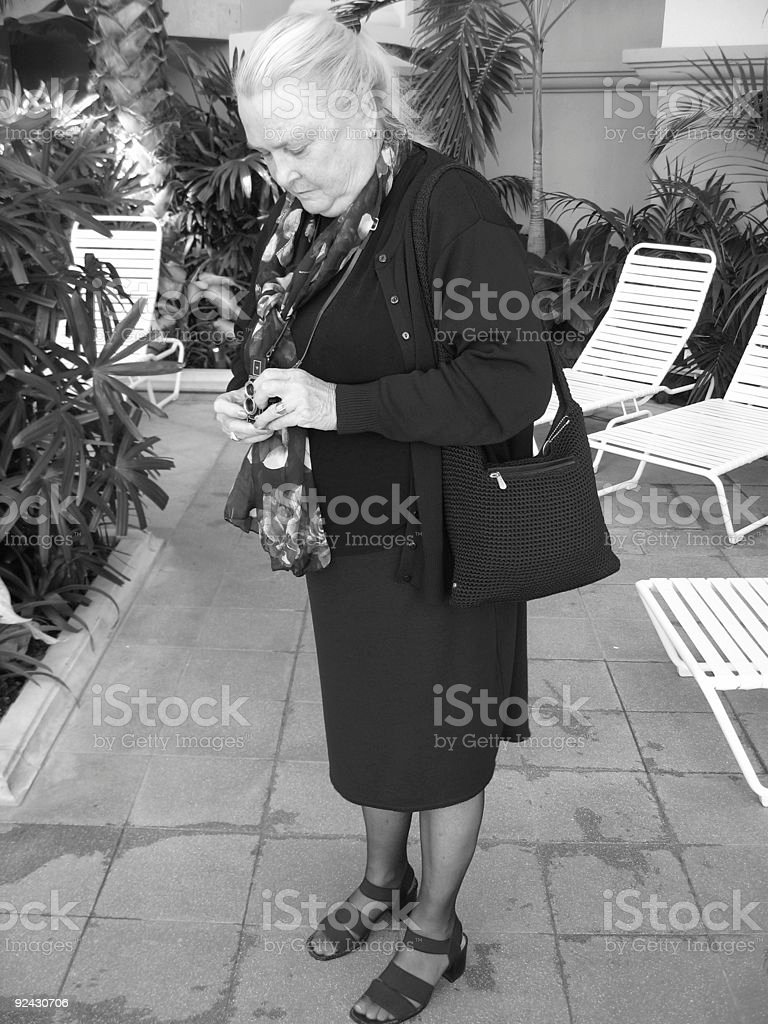 Woman Photographing stock photo