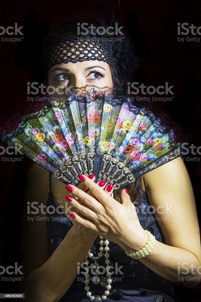 ART DECO Woman royalty-free stock photo
