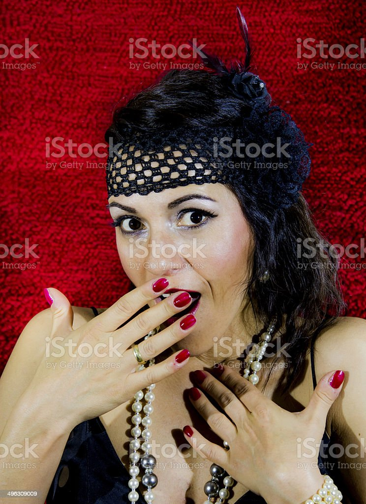 ART DECO Woman royalty-free stock photo