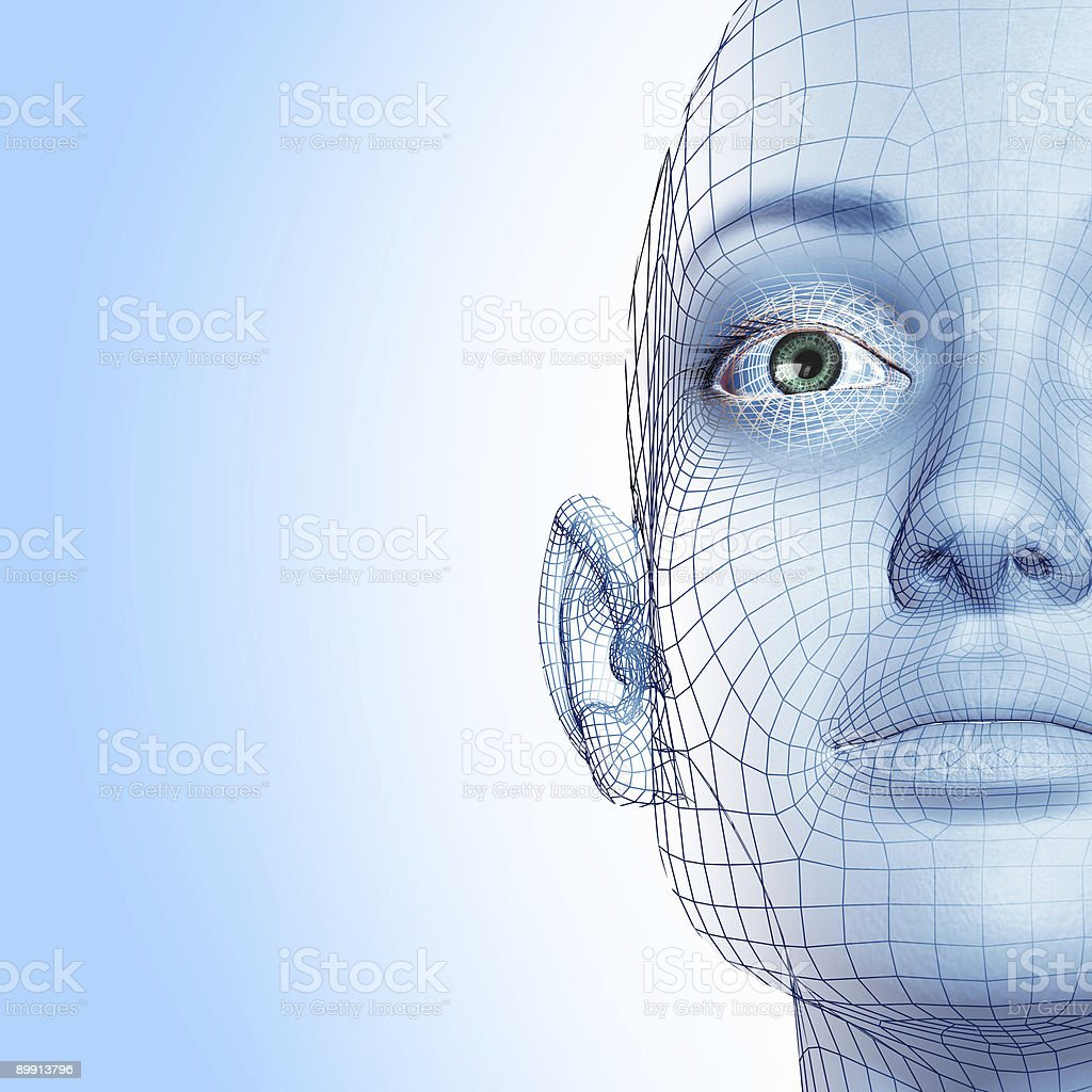 3D woman stock photo