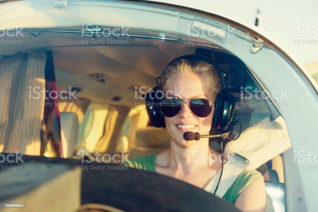 Woman Pilot stock photo