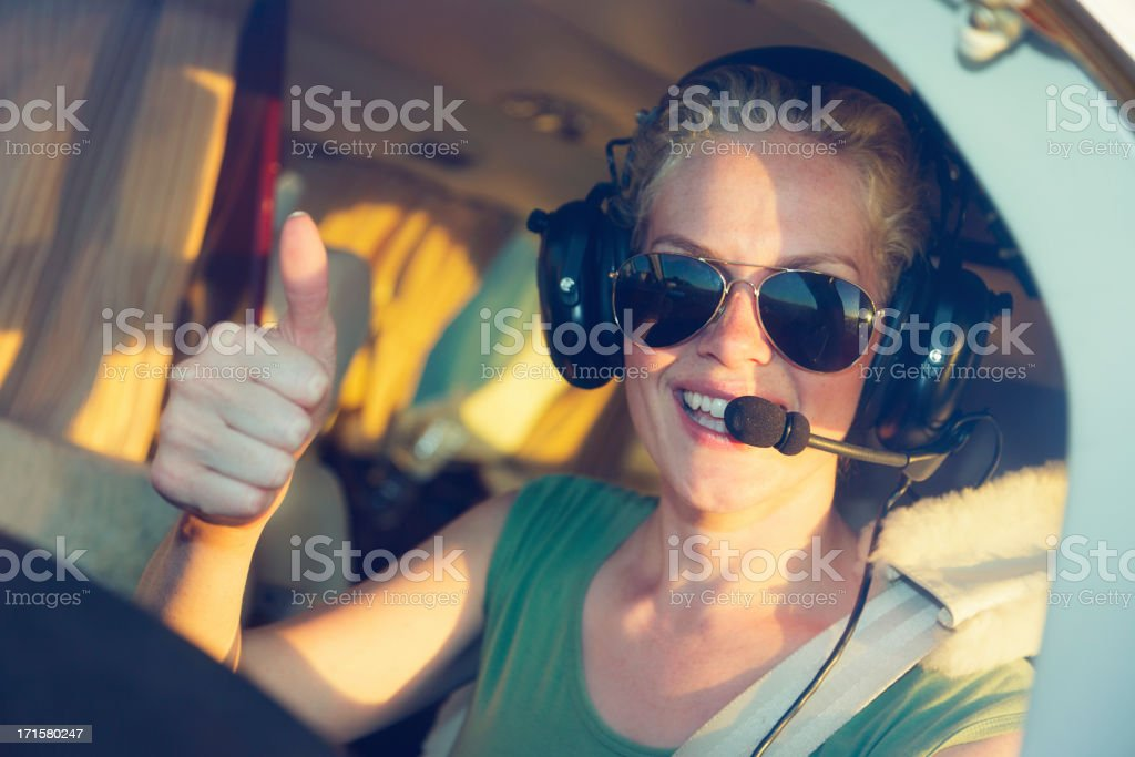 Woman Pilot stock photo