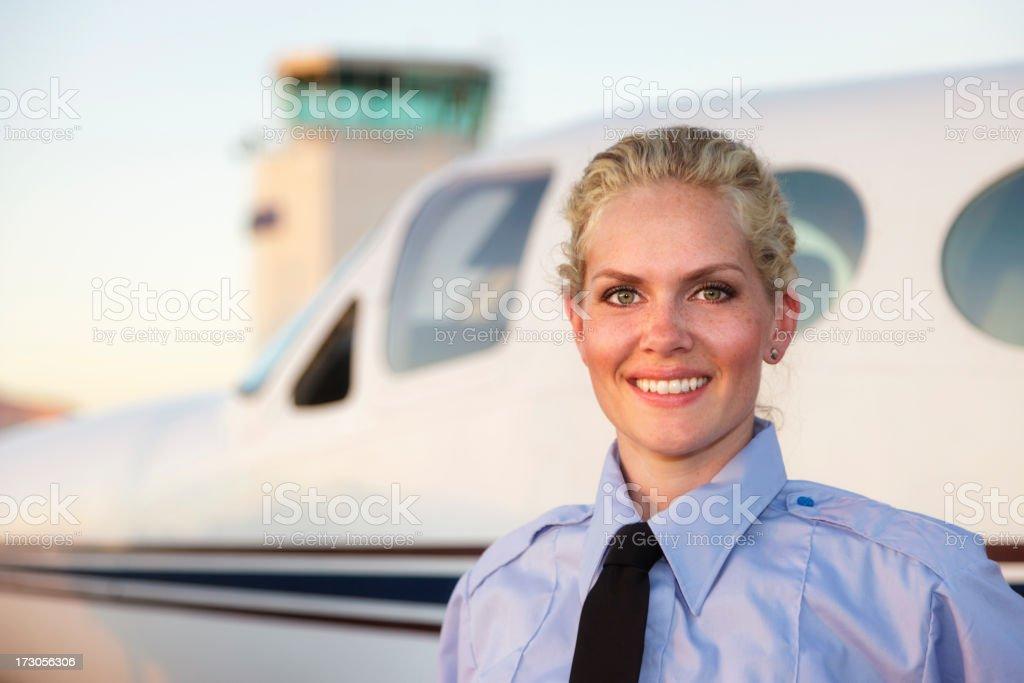 Woman Pilot royalty-free stock photo