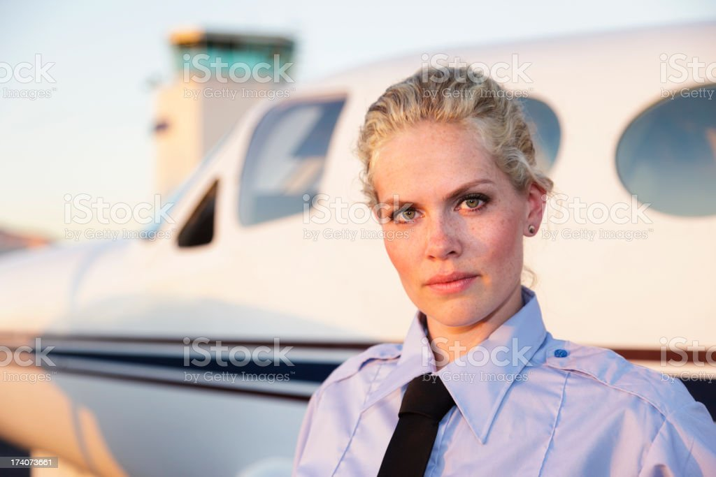 Woman Pilot royalty-free stock photo