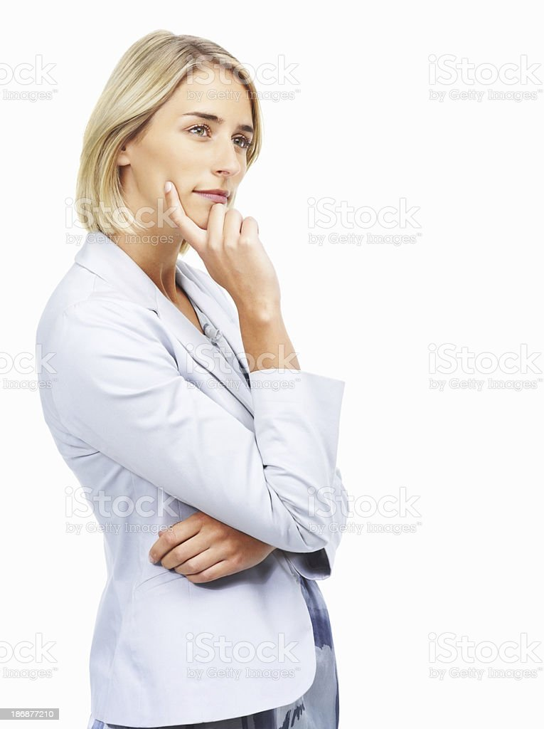 Woman planning business strategy royalty-free stock photo