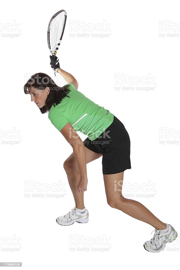 Woman Playing Racquetball royalty-free stock photo