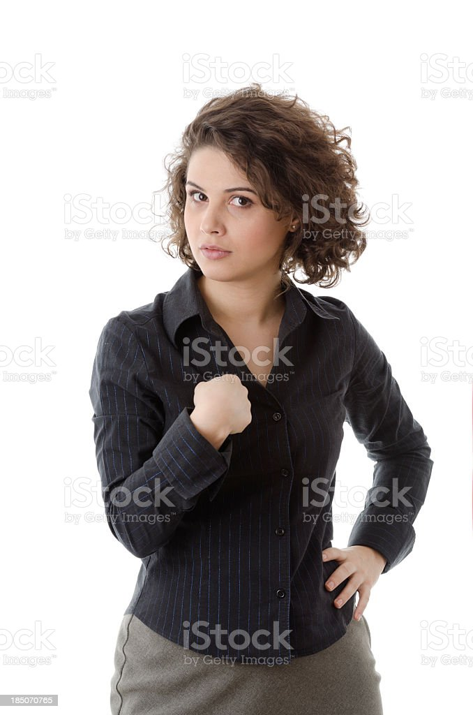 Woman pointing at herself royalty-free stock photo