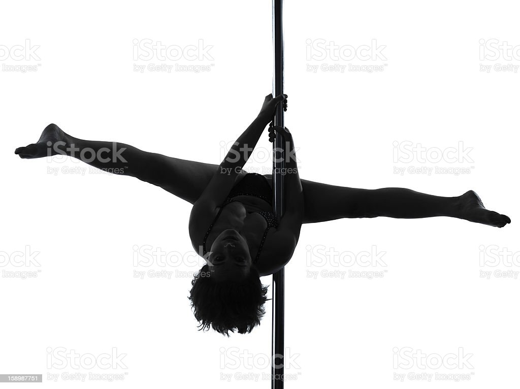 woman pole dancer silhouette royalty-free stock photo