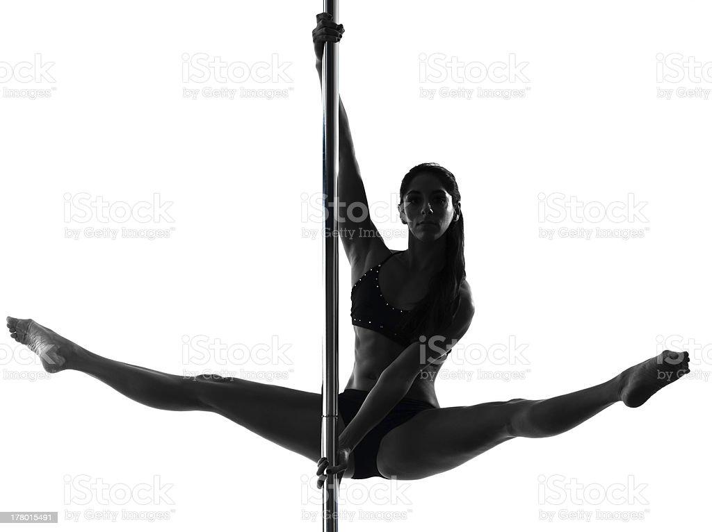 woman pole dancer silhouette royalty-free stock photo
