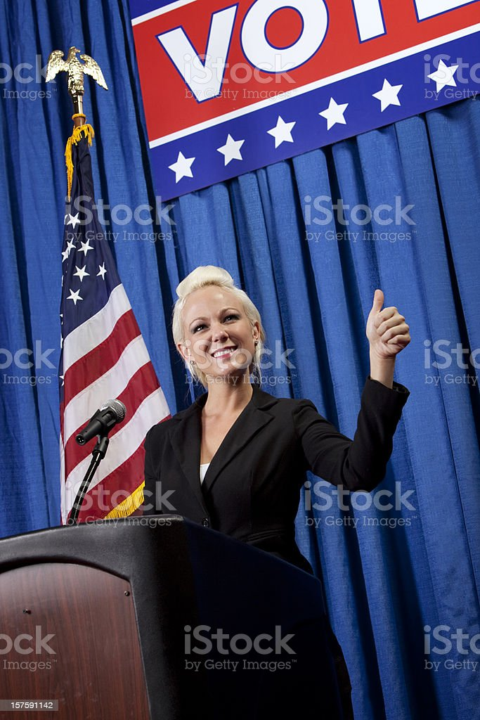Woman Politician Running for Politics royalty-free stock photo