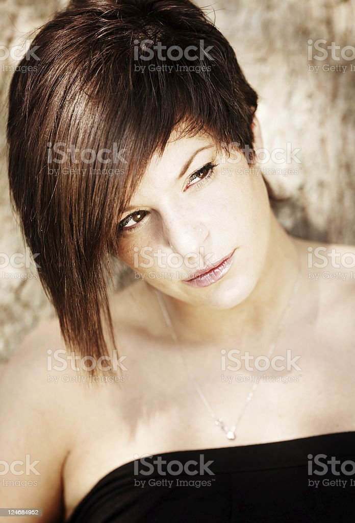 Woman Portrait. Color Image royalty-free stock photo