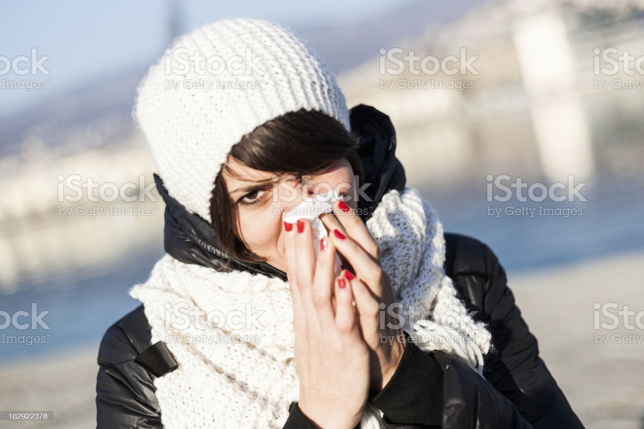 Woman Portrait during Winter royalty-free stock photo