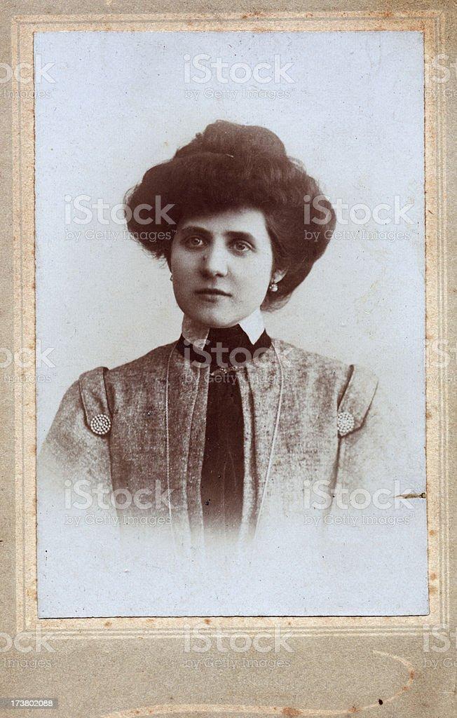 woman portrait in 1905 stock photo