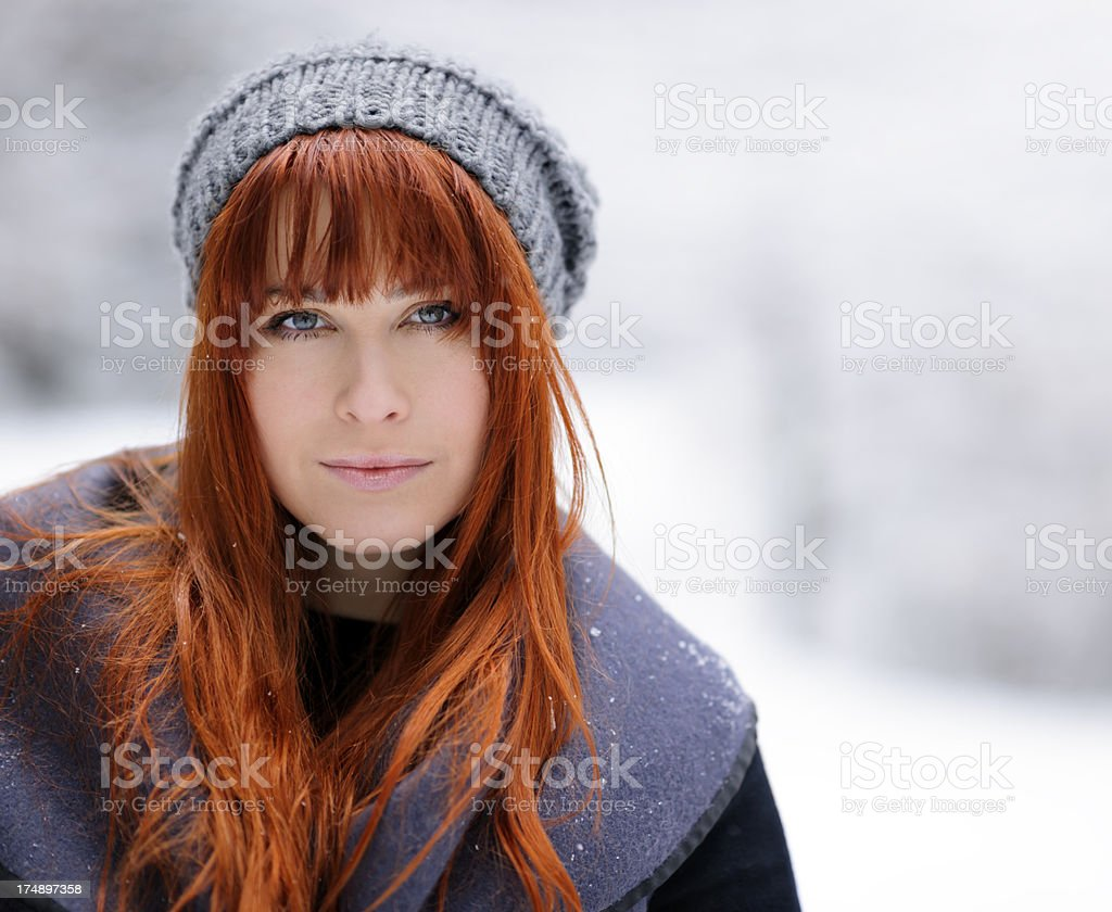 woman portrait outdoors royalty-free stock photo