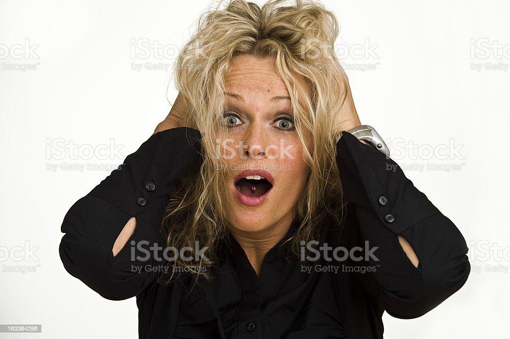 Woman Portrait Serie Face expression stock photo