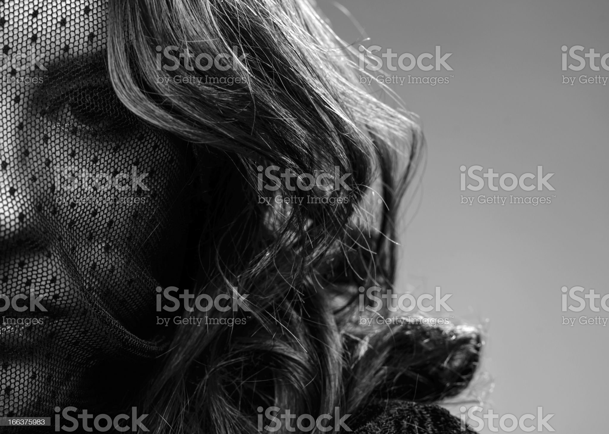 woman portrait with lace royalty-free stock photo