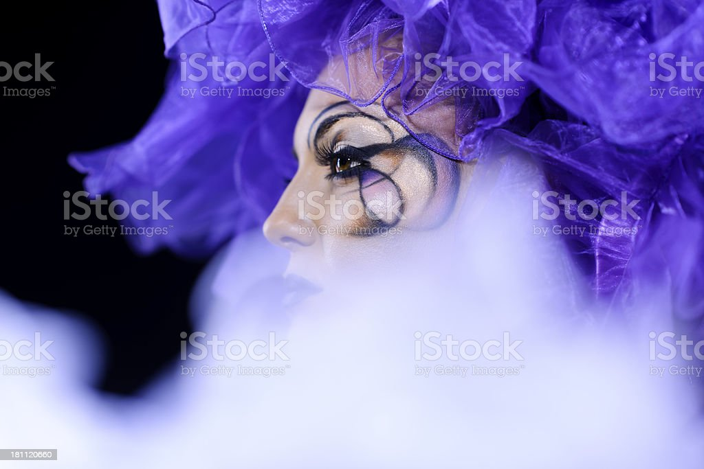 woman portrait with makeup royalty-free stock photo