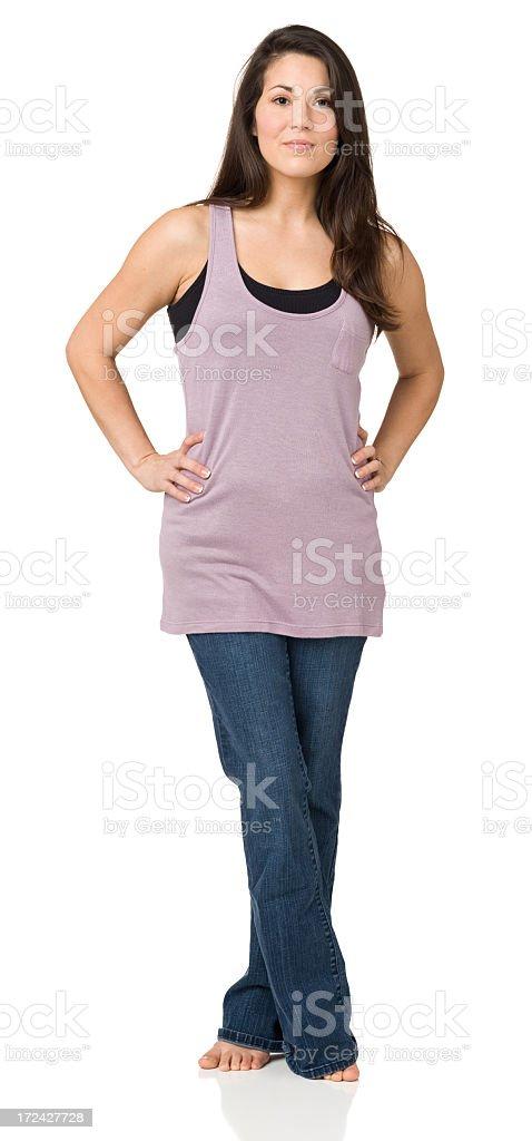 Woman Posing, Full Length Portrait royalty-free stock photo