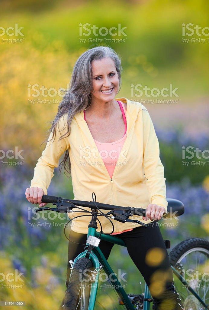 Woman Posing In Bluebonnet Field royalty-free stock photo