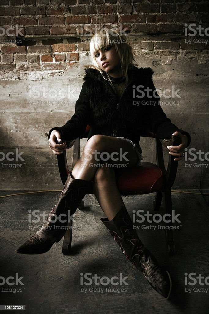Woman posing royalty-free stock photo