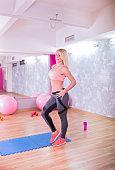 Woman posing the gym