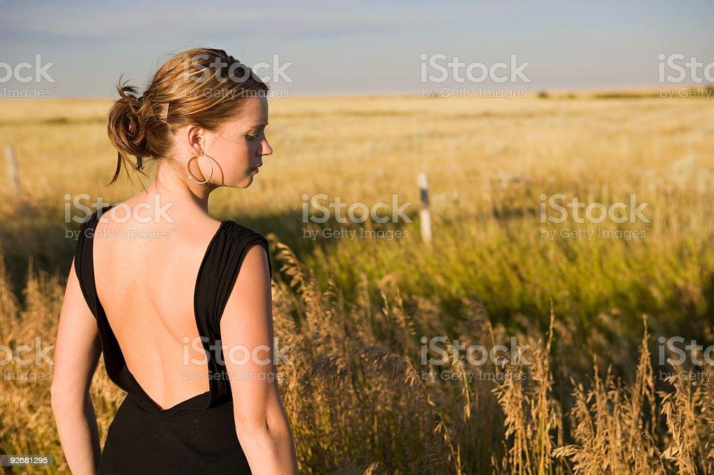 Woman / Prairies royalty-free stock photo