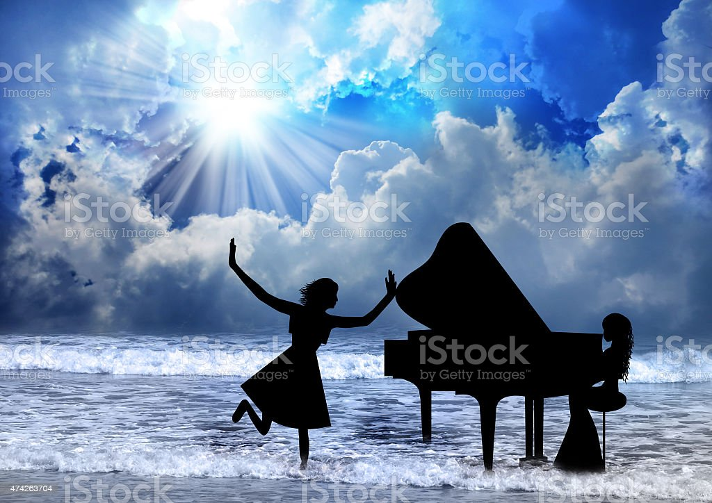 Woman Praise The Lord stock photo