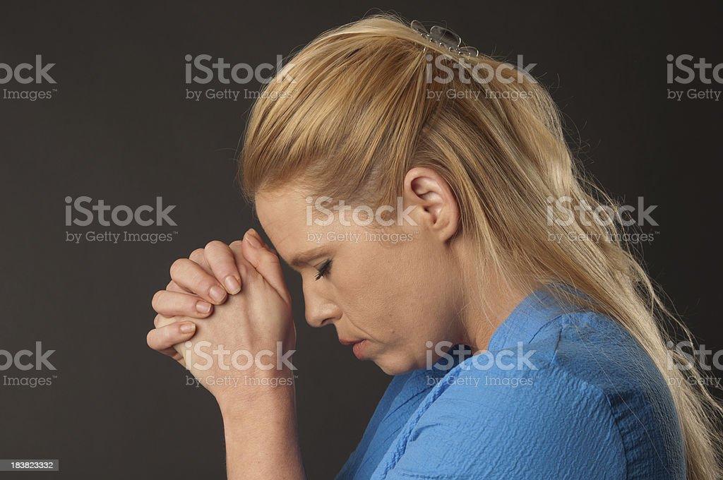 Woman Praying royalty-free stock photo
