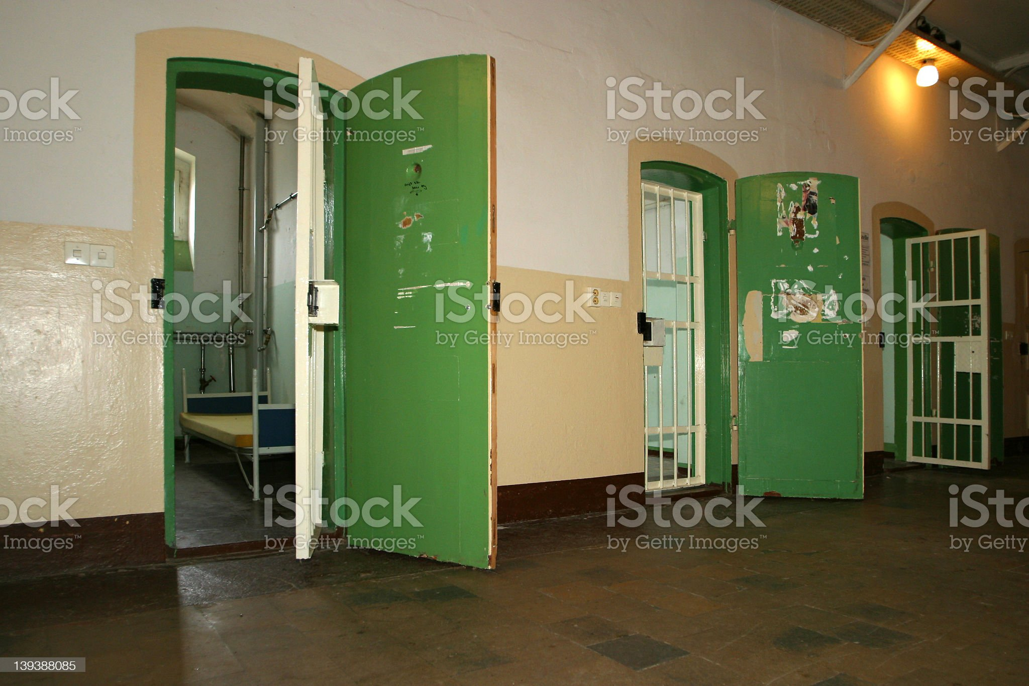 Woman prison cell 3 royalty-free stock photo