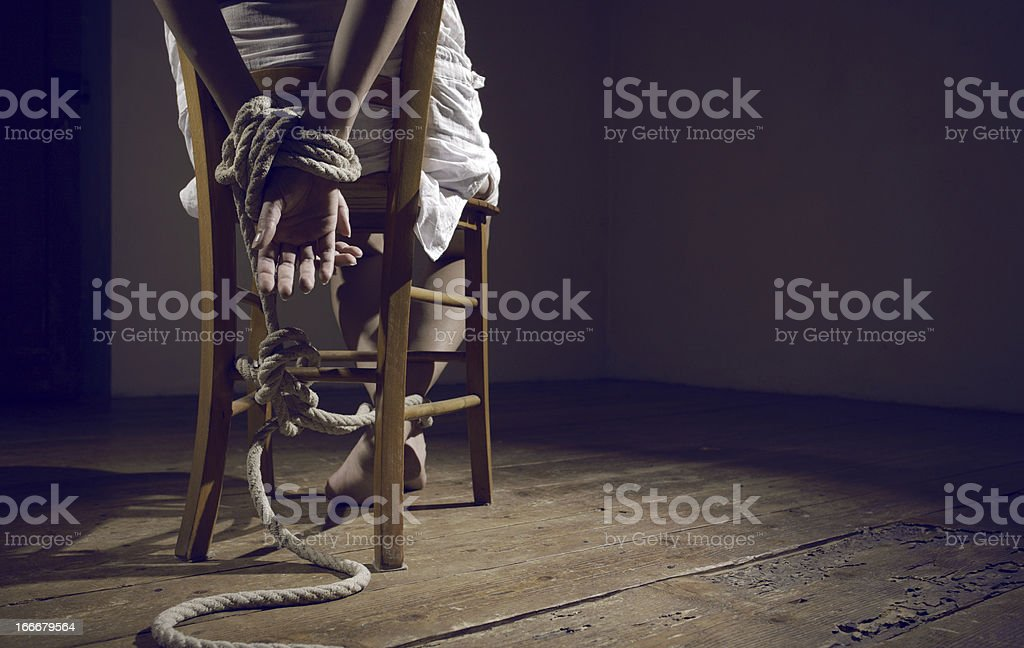 Woman prisoner stock photo