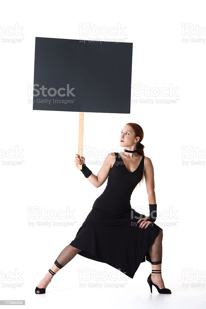 Woman Protest - Space For Writing royalty-free stock photo