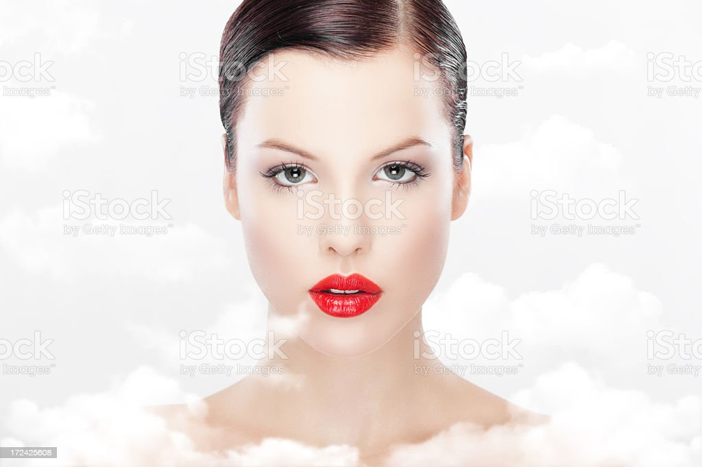 Woman purity royalty-free stock photo