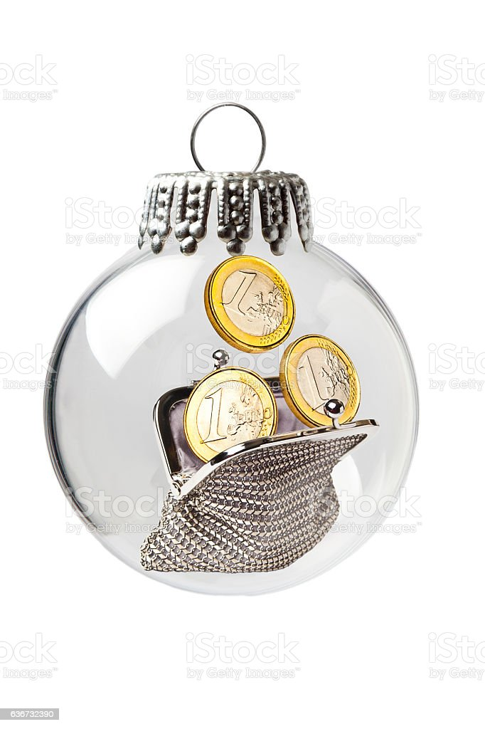 Woman Purse in a Christmas Ornament stock photo