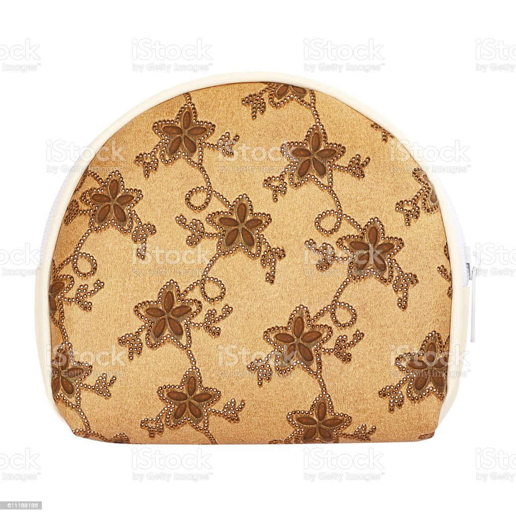 Woman purse (wallet) isolated on white background stock photo
