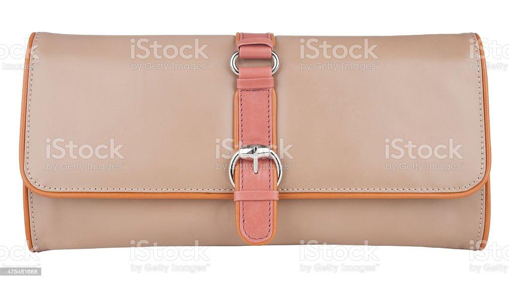 woman purse(clutch) on white stock photo