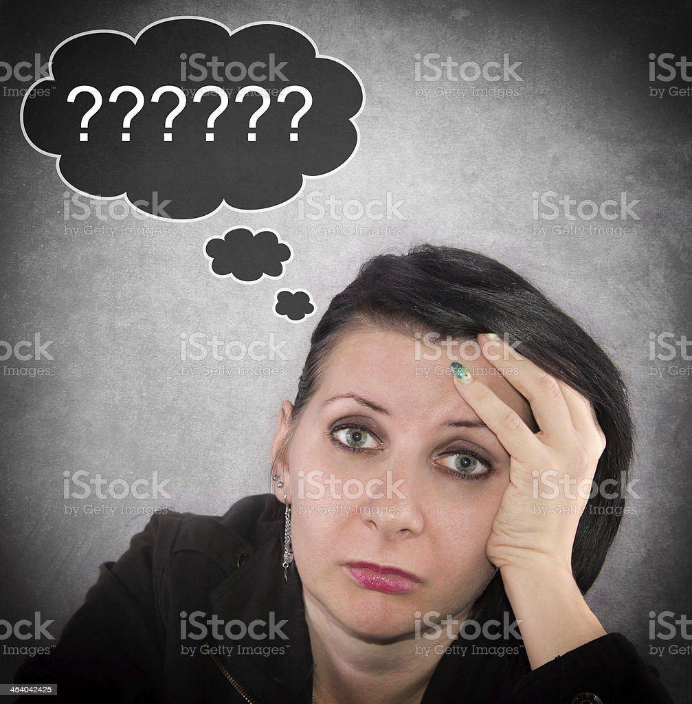 woman question stock photo