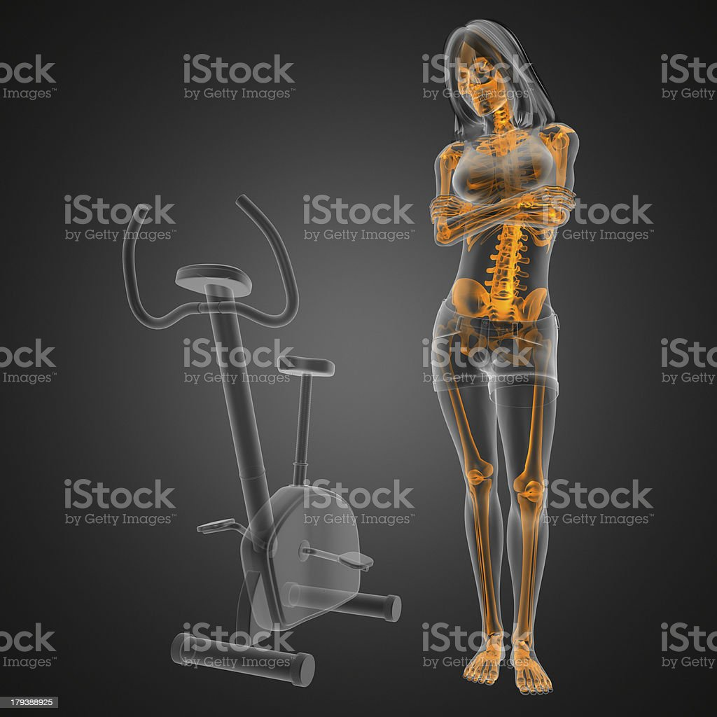 woman  radiography scan in gym room royalty-free stock photo