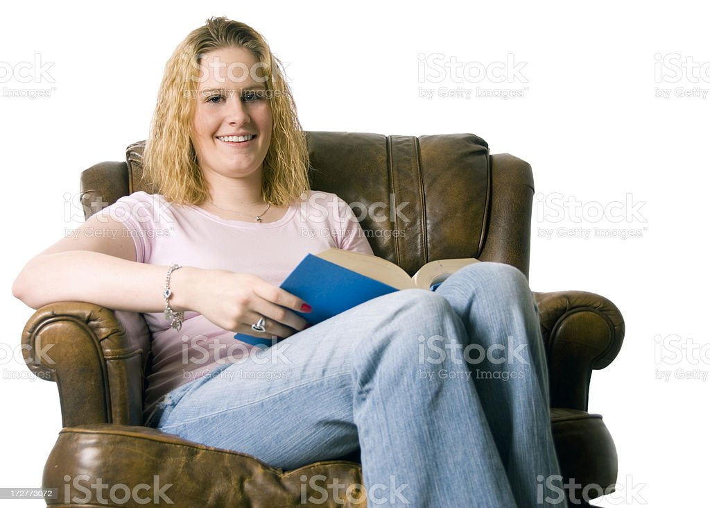 Woman Reading royalty-free stock photo