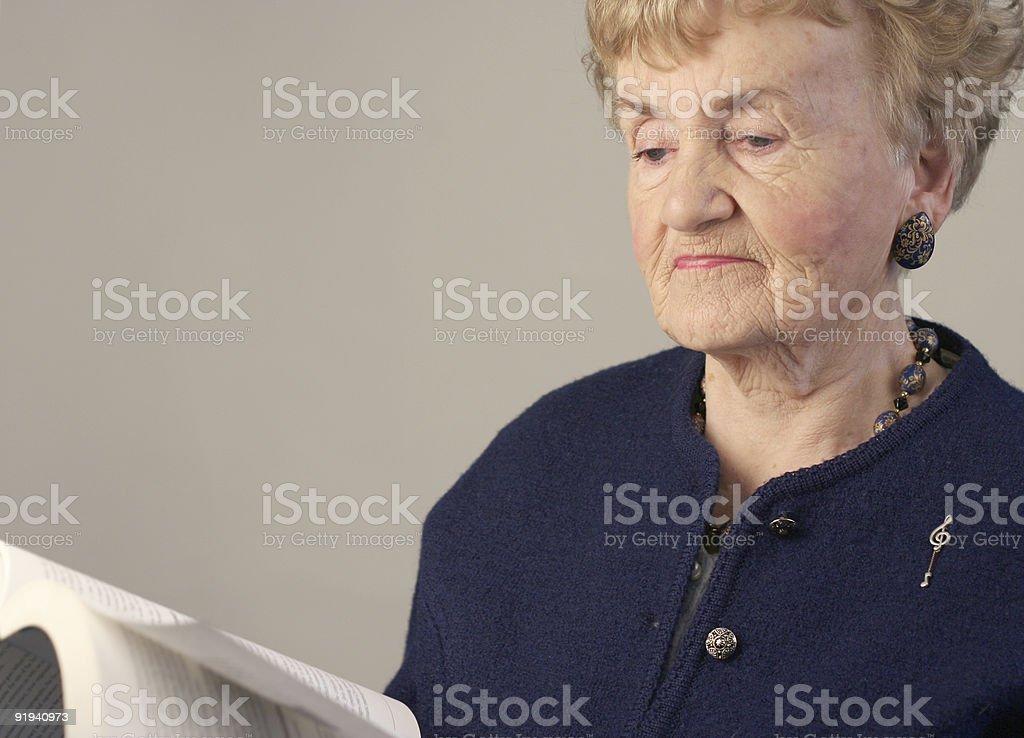 Woman reading royalty-free stock photo