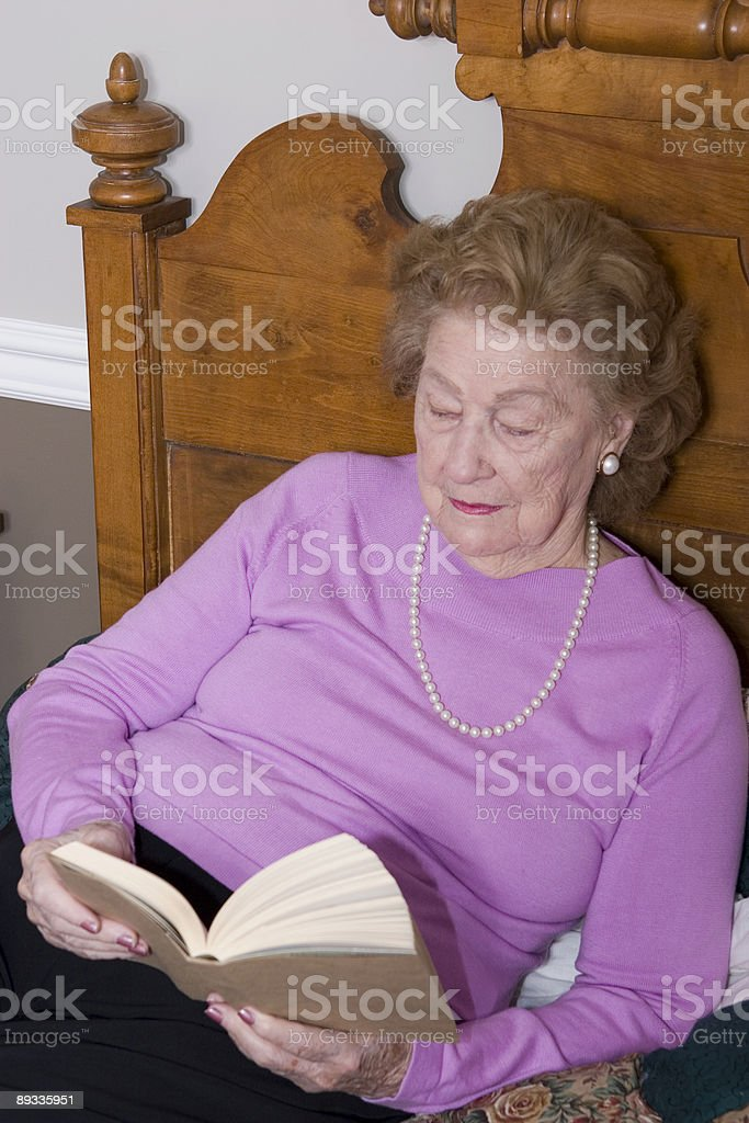 Woman reads book royalty-free stock photo