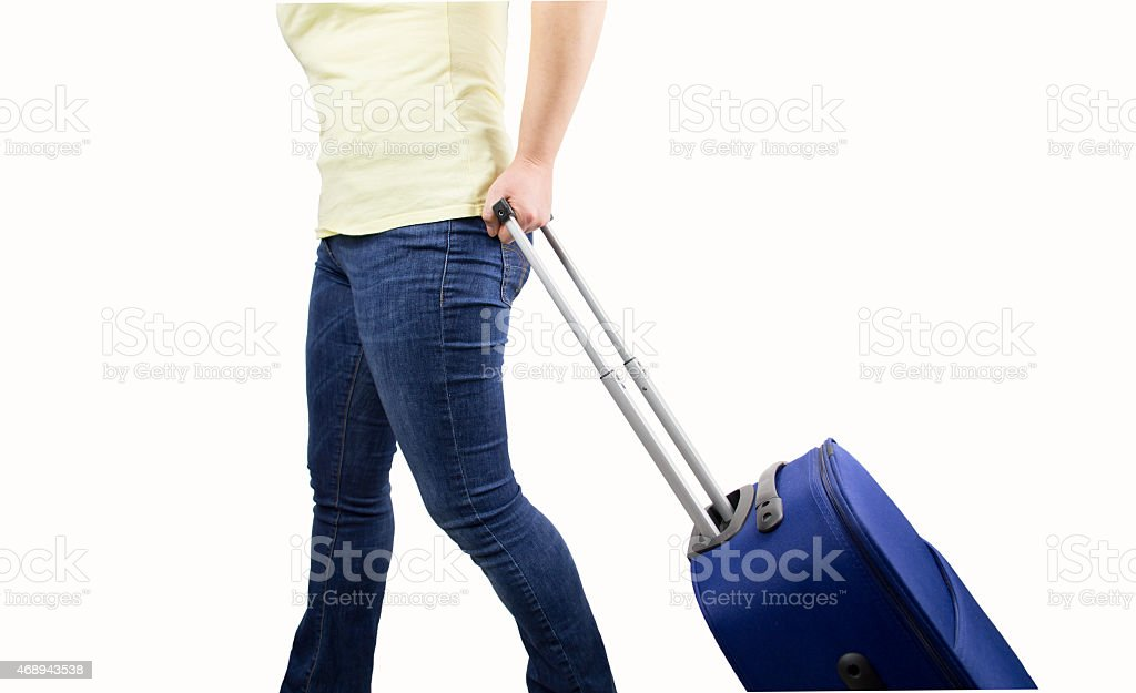 woman ready to boarding stock photo
